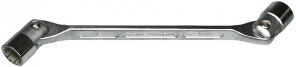 Doppelgelenkschlüssel 14 mm x 15 mm