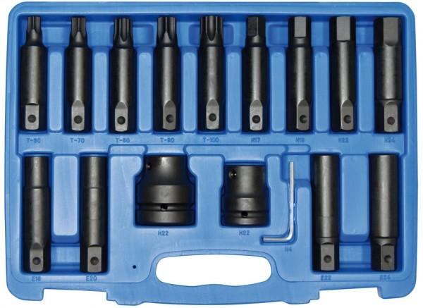 22 mm 6-kant IMPACT-Spezialbitsatz