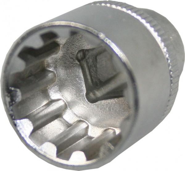 """12,5 mm (1/2"""") Außen-Multiprofil """"4 in 1"""" Steckschlüsseleinsatz 22 mm"""