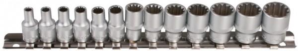 """6,3 mm (1/4"""") Außen-Multiprofil """"4 in 1"""" Steckschlüsselsatz"""