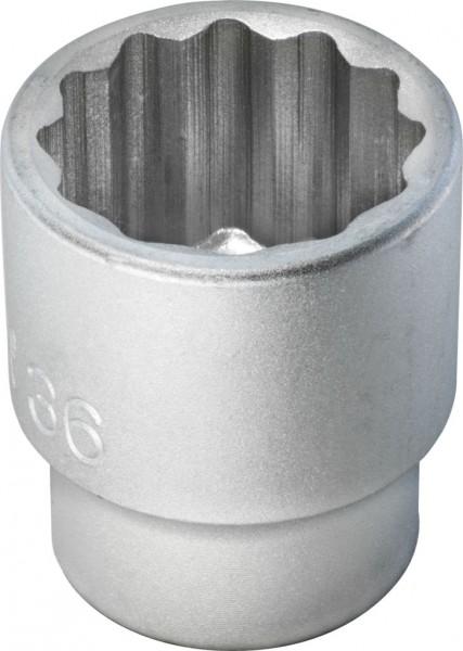 """20 mm (3/4"""") Zwölfkant Steckschlüsseleinsatz 36 mm"""