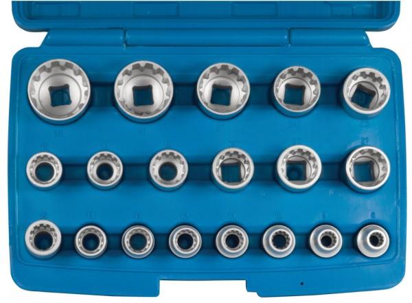"""12,5 mm (1/2"""") Außen-Multiprofil """"4 in 1"""" Steckschlüsseleinsätze"""