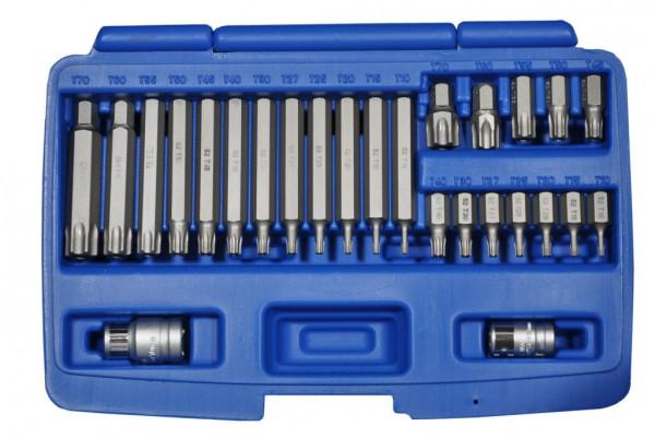 10 mm 6-kant T-Profil mit Loch Schraubendreheinsätze