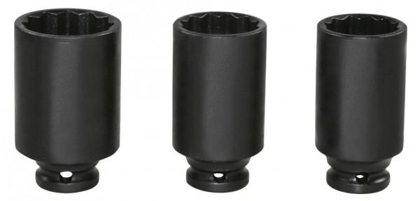"""12,5 mm (1/2"""") Zwölfkant IMPACT-Steckschlüsseleinsätze 30, 32, 36 mm"""